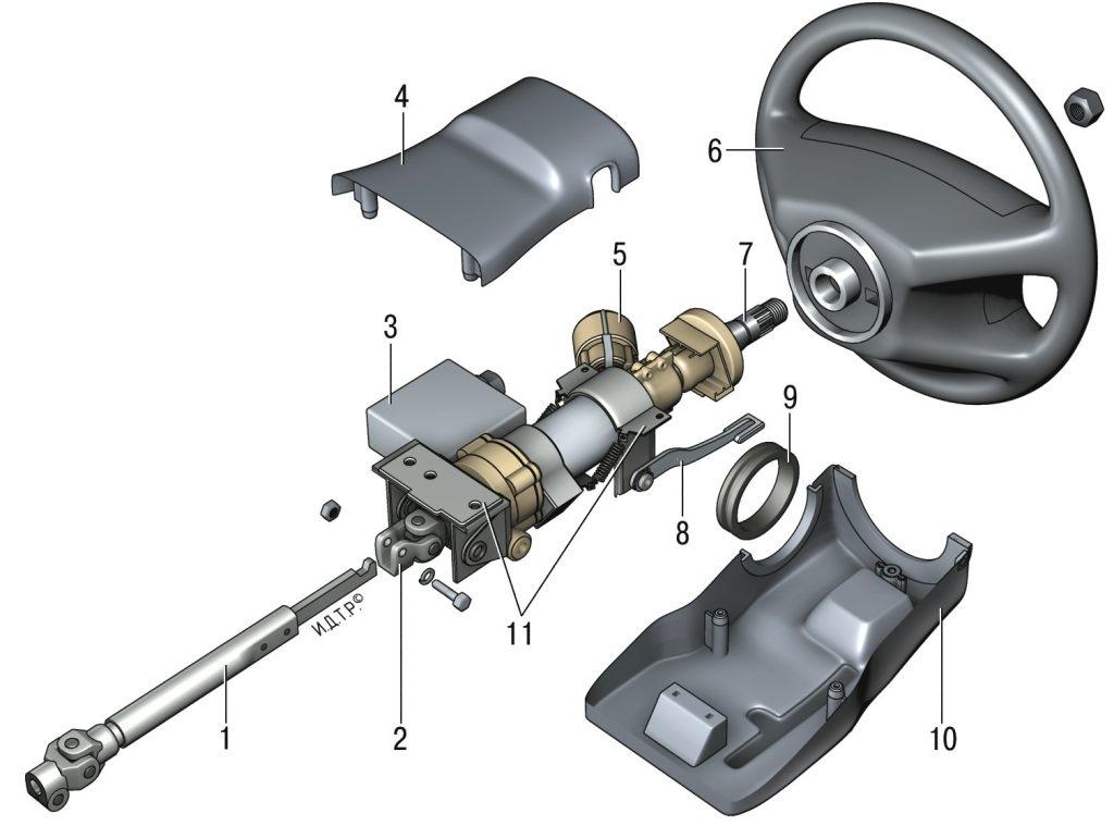 Снятие и установка рулевой
