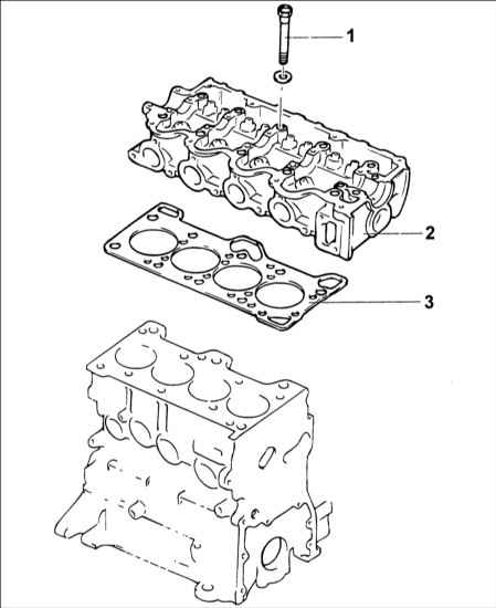 Схема головки блока цилиндров