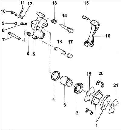 Схема суппорта переднего