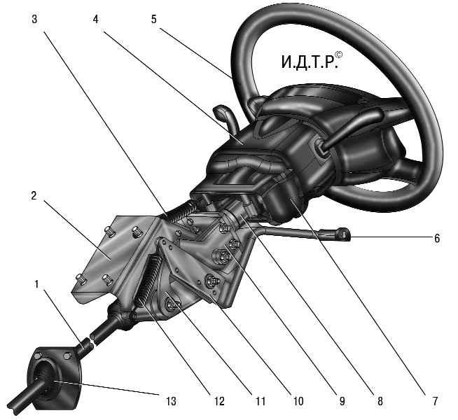 уаз патриот рулевое управление схема