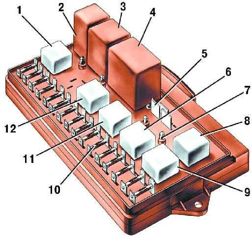 Ваз 21099 монтажный блок