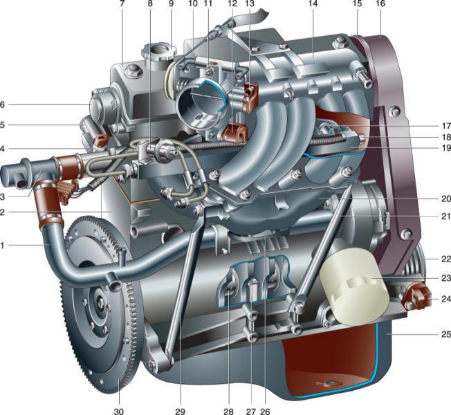 Двигатель Ваз 2111 с навесным