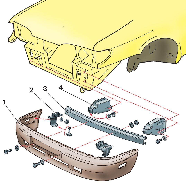 Ваз 2115 передний бампер схема