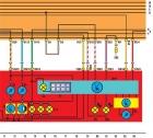 Электросхема комбинация приборов Фольксваген Гольф 2