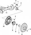 Задний барабанный тормозной механизм Фольксваген Гольф 4