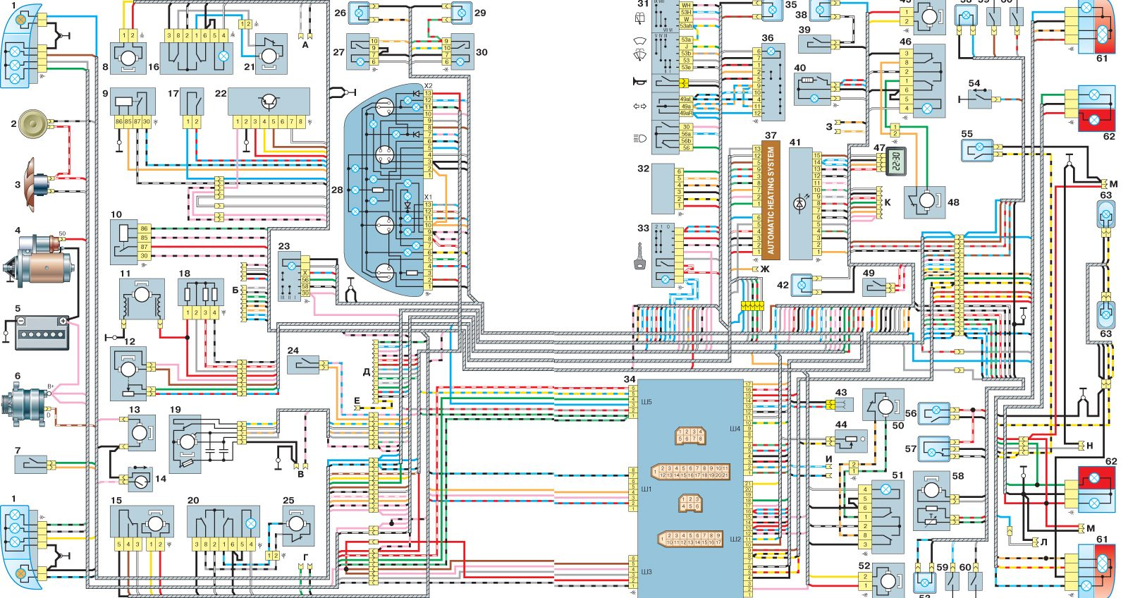 Схема тахометр на ваз 2110 инжектор