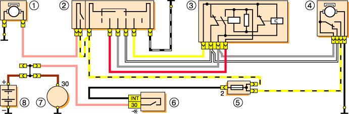 Электро схема включения
