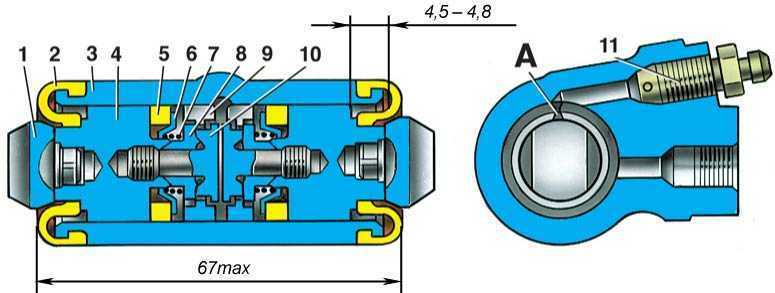 Ваз 2110 устройство колесного