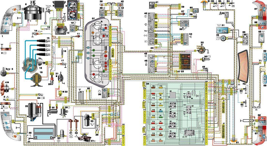Схема Ваз 2110. Схема проводки